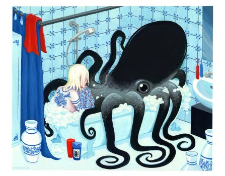 Porcelain Lovers: Getting too big for the bathtub by Antihelios