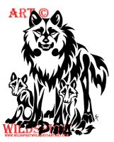 Protective Father Wolf Tattoo by WildSpiritWolf