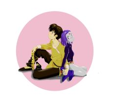 Ryoga and Raven by chou-roninx