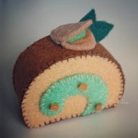 Pistachio Swiss Roll by CraftersBoutique
