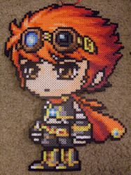 MapleStory: Perler Bead Battle Mage by heatbish