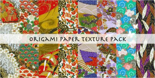 Origami paper texture pack by andrea-koupal