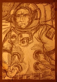 Asrtonaut (Moon Dust Sketch) by nicolaykoriagin