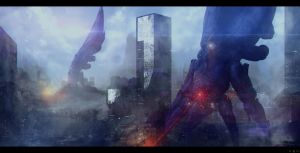 Mass Effect 3 Reapers - Earth by Azagth