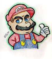 Thumbs Up Mario by chelano