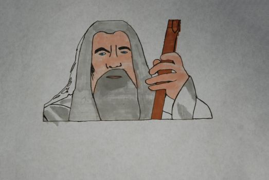College work Gandalf by sarcane