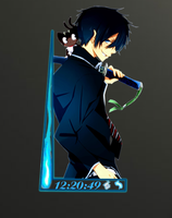 Rainmeter ao no exorcist by S4Pabl0