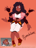 [Gemsona Fusion] Pyrochlore by Saccharinerose