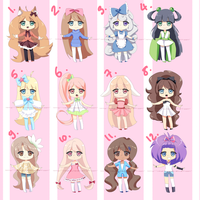 FREE ADOPTABLES *closed* by Mikabunni