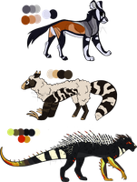Animal Hybrids #2 - Auction (closed) by SwarThylacine-Adopts