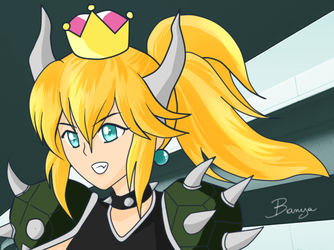 Bowsette, Queen of the Koopas by Banya-Laplace-Studio