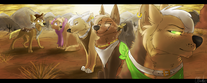 Wolves of the West [:SPEEDPAINT:] by 09Leaf