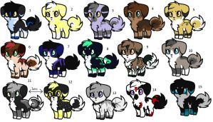 Pup Adoption- (CLOSED) by ThunderLordess