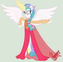 Princess Celestia Frozen: Queen of the sun by doggie31