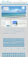 Web Graphic Kit UI elements by Giallo86