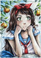 A Bored Princess ACEO by AngieVX