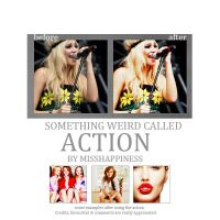 Something weird called action by misshappiness