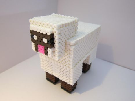 PerlerBeads - 3D Minecraft Sheep (V.2) by zorberema
