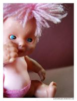 Pink Mohawk Doll 1 by punksafetypin