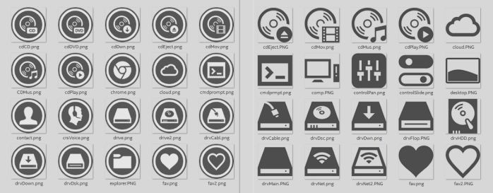 Icon sets for SAO theme w/ templates by yorgash