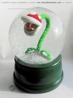 : LARGE piranha plant snowglobe : by BastardPrince