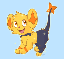 Shiny Shinx by Skaicat
