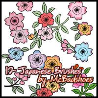 Japanese Flowers by mcbadshoes