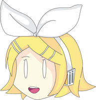 Kagamine Rin Chibi Head Sticker by N00dleChan