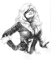 Black Cat Sketch by Eric Meador by Meador