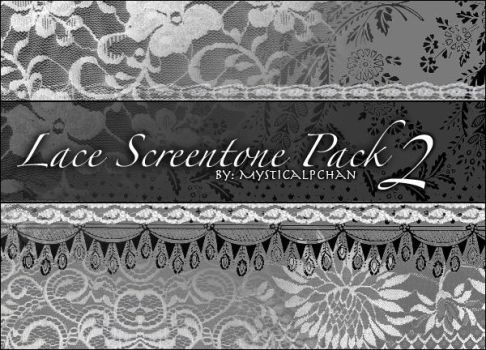 Lace Screentone Pack 2 by Mysticalpchan