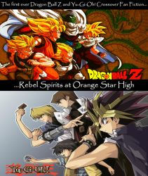 Yu-Gi-Oh! and Dragon Ball Z Crossover Promo Art by Artworx88