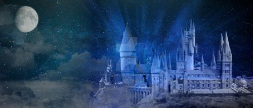Hogwarts in Moonlight by HaroldWood