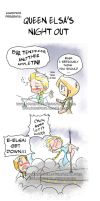 Queen Elsa's Night Out by KamiDiox