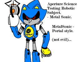 PORTAL - Metal Sonic -colour edit by mitchika2
