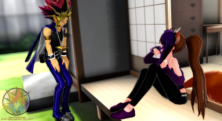 [MMD Request] Hanging out with Yami by AtemKira