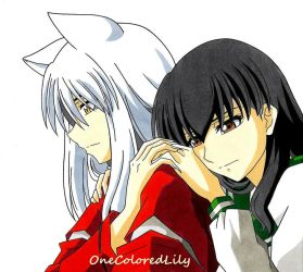 InuYasha and Kagome (2) by OneColoredLily