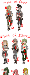 Leftover Theme Naruto Collab Adoptables - EXPIRED by mistressmaxwell