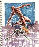 Sketch 19:Daredevil-BlackWidow by Cinar