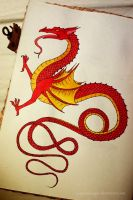 Dragon #15 (watercolor) by SeigneurNazgul
