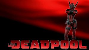 Lady Deadpool Wallpaper with Attitude by Curtdawg53