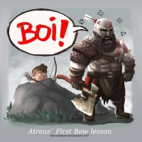 Atreus first Bow Lesson by Wenart