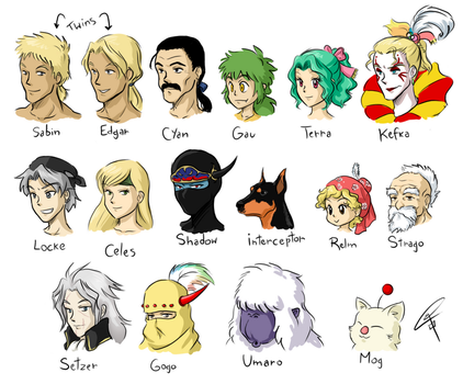 Final Fantasy VI cast by ClaraKerber