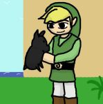 Link and black Piglet by Reapinginprogress