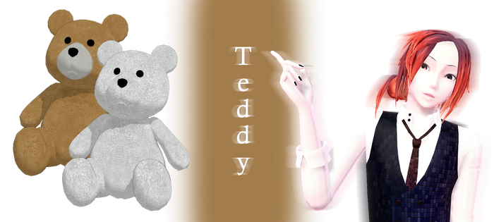 [MMD] Teddy DL by JoanAgnes