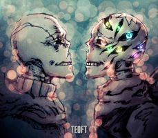 Teal and Crayon by Teoft