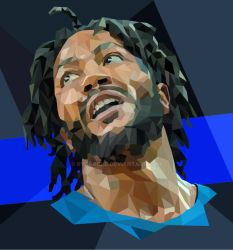Derrick Rose Low Poly by ryApache