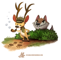 Daily Paint 1303. Deerstalker by Cryptid-Creations