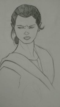 Rey rough sketch by KRStudio