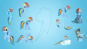 Rainbow Dash Wallpaper Collab by EqFAzrael