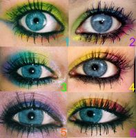 Colorful Eye makeup by technicolorjessii